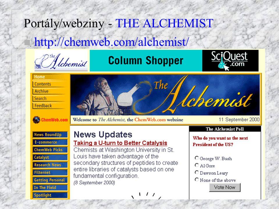 Portály/webziny - THE ALCHEMIST n http://chemweb.com/alchemist/