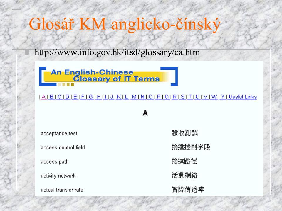 Glosář KM anglicko-čínský n http://www.info.gov.hk/itsd/glossary/ea.htm
