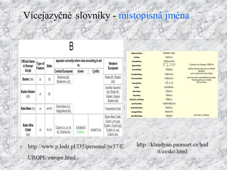 Dvojjazyčné slovníky - Německo-český slovník Oplatek Software n http://www.oplatek.cz / = ONLINE
