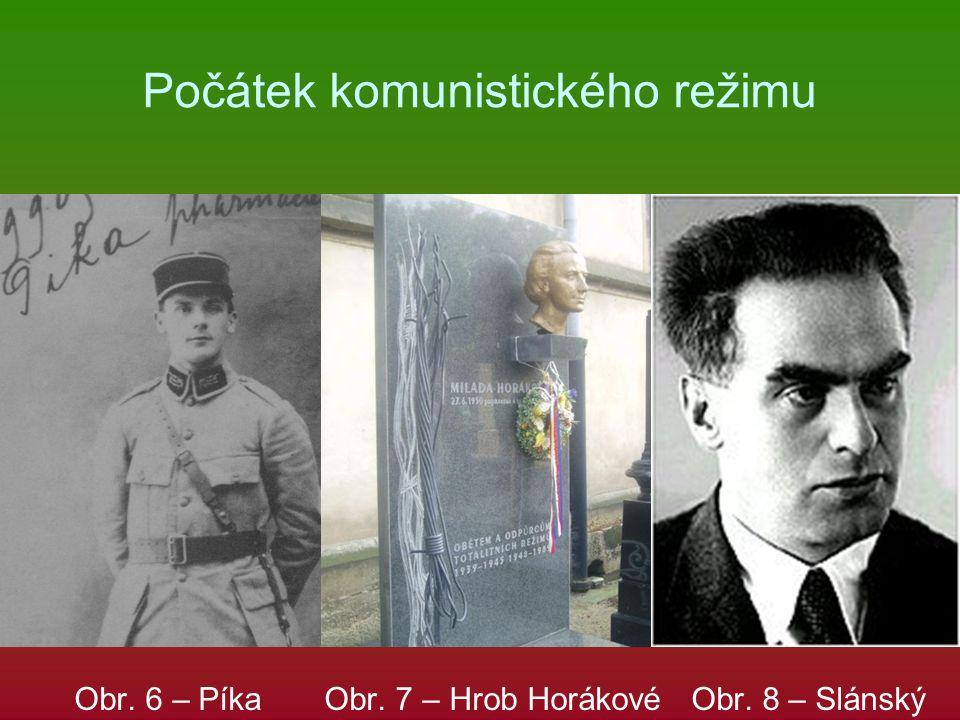 Počátek komunistického režimu Obr. 6 – Píka Obr. 7 – Hrob Horákové Obr. 8 – Slánský