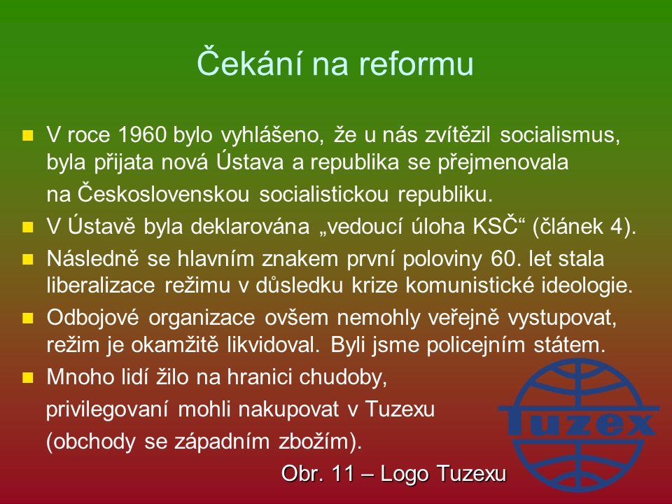 Čekání na reformu V roce 1960 bylo vyhlášeno, že u nás zvítězil socialismus, byla přijata nová Ústava a republika se přejmenovala na Československou s