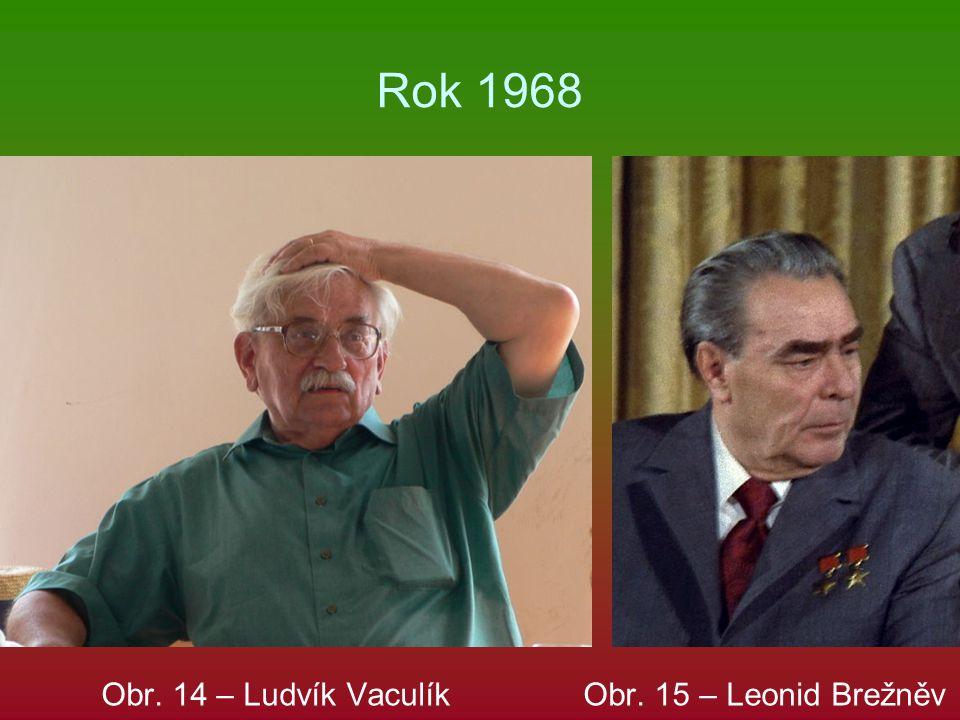 Rok 1968 Obr. 14 – Ludvík Vaculík Obr. 15 – Leonid Brežněv