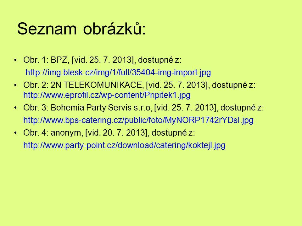 Seznam obrázků: Obr. 1: BPZ, [vid. 25. 7. 2013], dostupné z: http://img.blesk.cz/img/1/full/35404-img-import.jpg Obr. 2: 2N TELEKOMUNIKACE, [vid. 25.