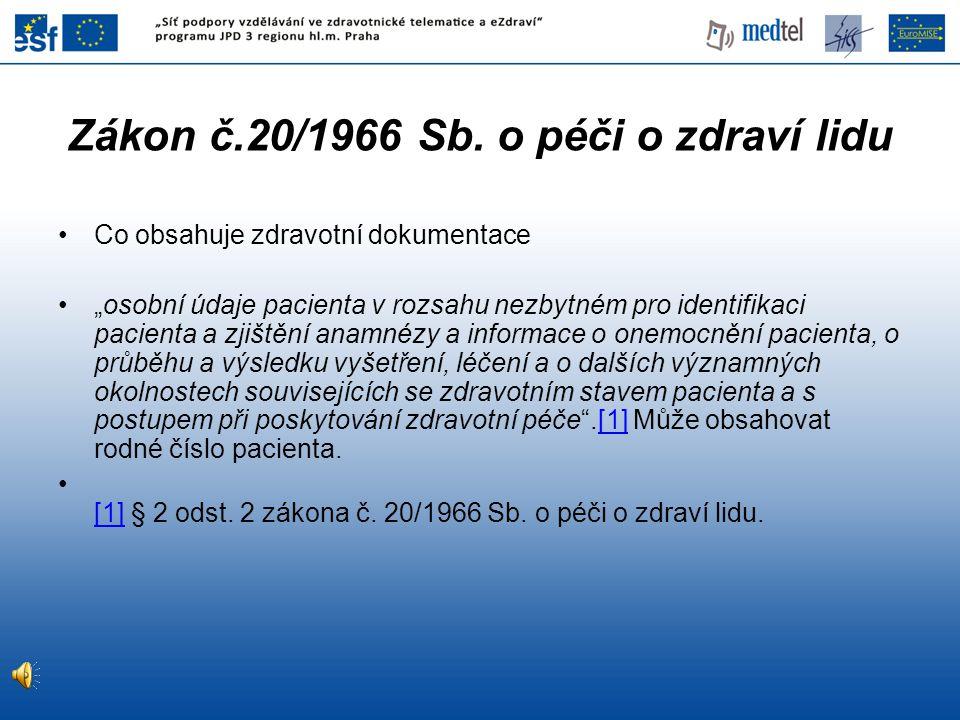Zákon č.20/1966 Sb.