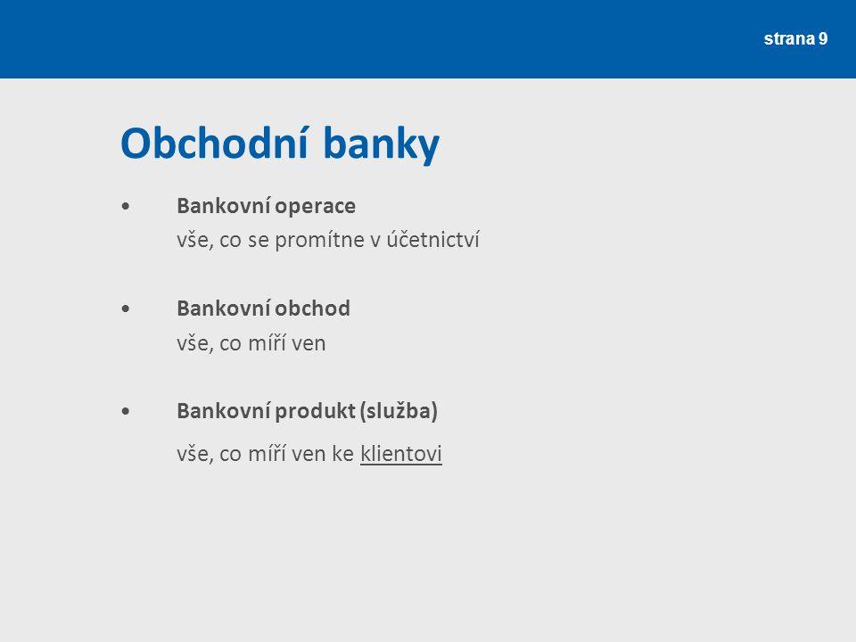 strana 10 Bankovní produkty Úvěrové Vkladové Ostatní Některé poskytovány prostřednictvím dceřinných společností či společností ve finanční skupině (crosseling) (např.