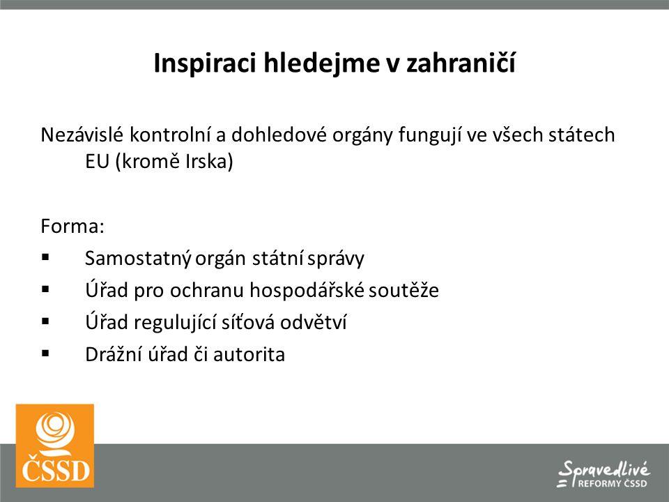 Inspiraci hledejme v zahraničí Slovensko Samostatný úřad pro regulaci železniční dopravy.