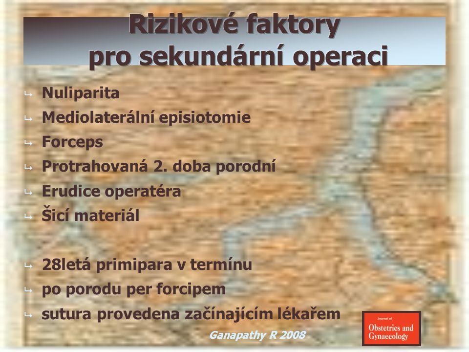   Nuliparita   Mediolaterální episiotomie   Forceps   Protrahovaná 2. doba porodní   Erudice operatéra   Šicí materiál   28letá primipar