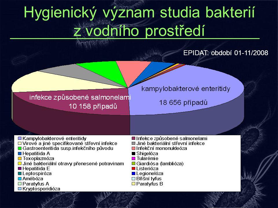 Hygienický význam studia bakterií z vodního prostředí EPIDAT: období 01-11/2008