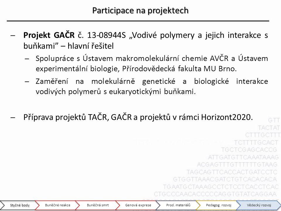 Participace na projektech ̶Projekt GAČR č.