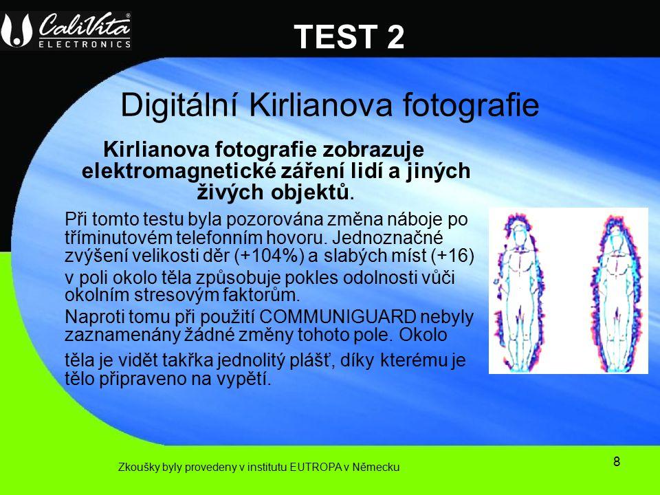 8 Digitální Kirlianova fotografie Kirlianova fotografie zobrazuje elektromagnetické záření lidí a jiných živých objektů.