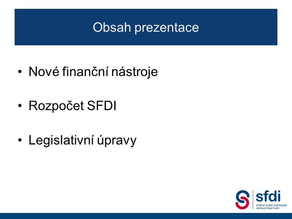 Nové programové období OPD II 3 Prioritní osa (PO)Specifický cíl (SC) Podíl celkového příspěvku EU pro OPD dle fondu Navrhovaná alokace v EUR (předložená EK k vyjednávání) EFRRFS PO1 - Infrastruktura pro železniční a další udržitelnou dopravu 1.1 - Zlepšení infrastruktury pro vyšší konkurenceschopnost a větší využití železniční dopravy 0 %52,2 %2 449 507 639 1.2 - Zlepšení infrastruktury pro vyšší konkurenceschopnost a větší využití vnitrozemské vodní dopravy v hlavní síti TEN-T 1.3 - Vytvoření podmínek pro větší využití multimodální dopravy 1.4 - Vytvoření podmínek pro zvýšení využívání veřejné hromadné dopravy ve městech v elektrické trakci 1.5 - Zlepšení řízení dopravního provozu a zvyšování bezpečnosti dopravního provozu ve městech 1.6 - Vytvoření podmínek pro širší využití železniční a vodní dopravy prostřednictvím modernizace dopravního parku PO 2 - Silniční infrastruktura na síti TEN-T 2.1 - Zlepšení propojení center a regionů a zvýšení bezpečnosti a efektivnosti silniční dopravy prostřednictvím výstavby, obnovy a modernizace dálnic, rychlostních silnic a silnic sítě TEN-T včetně rozvoje systémů ITS 0 %27,1 %1 273 508 115 2.2 - Vytvoření podmínek pro širší využití vozidel na alternativní pohon na silniční síti PO 3 - Silniční infrastruktura mimo síť TEN-T 3.1 - Zlepšení dostupnosti regionů, zvýšení bezpečnosti a plynulosti a snížení dopadů dopravy na veřejné zdraví prostřednictvím výstavby, obnovy a zlepšení parametrů dálnic, rychlostních silnic a silnic I.