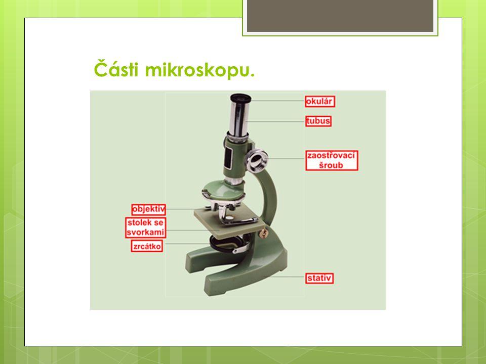 Části mikroskopu.