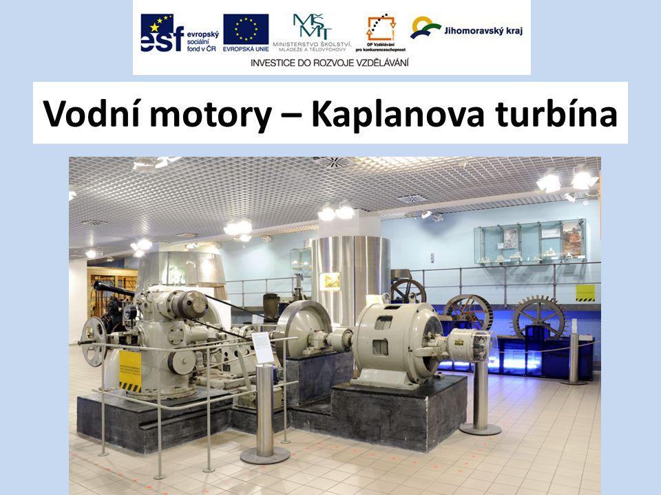 Vodní motory – Kaplanova turbína