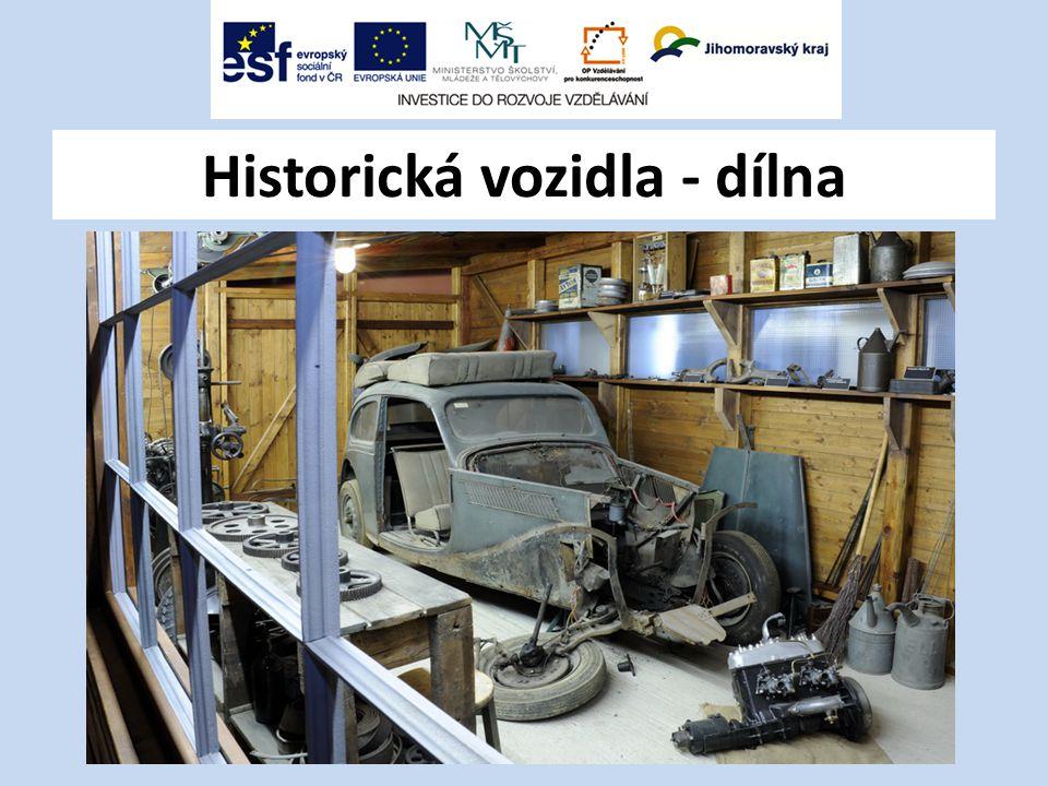 Historická vozidla - dílna
