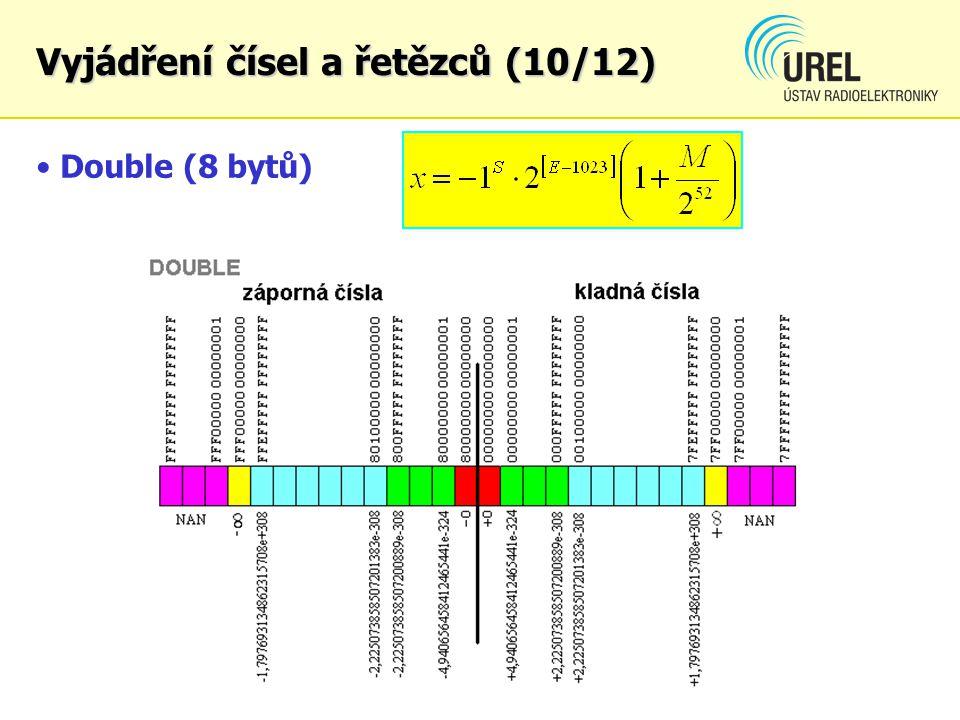 Double (8 bytů) Vyjádření čísel a řetězců (10/12)