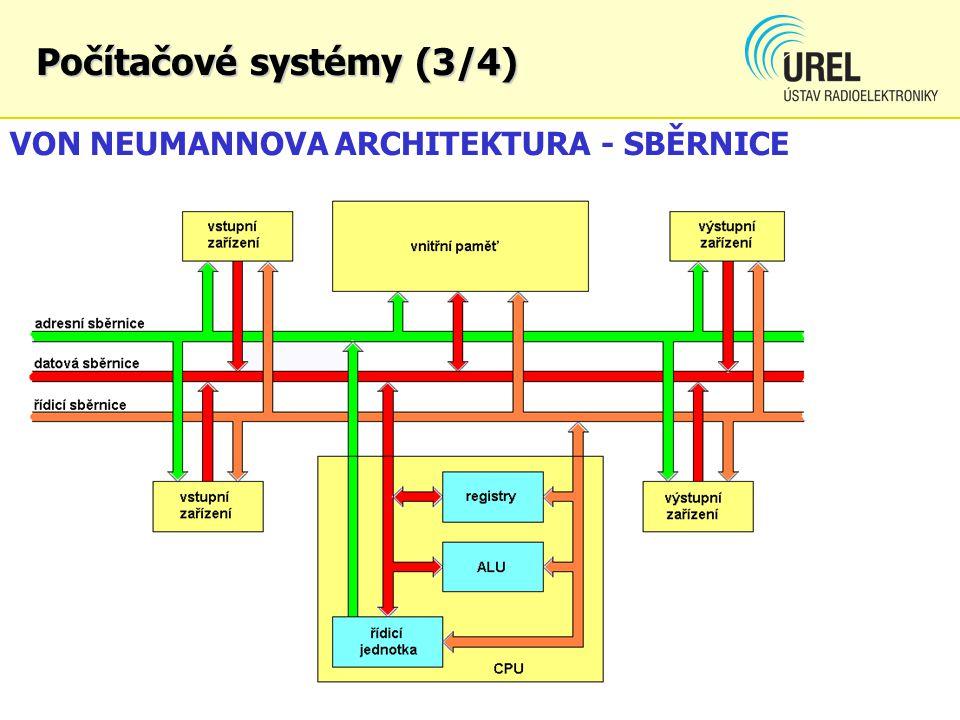 Počítačové systémy (3/4) VON NEUMANNOVA ARCHITEKTURA - SBĚRNICE