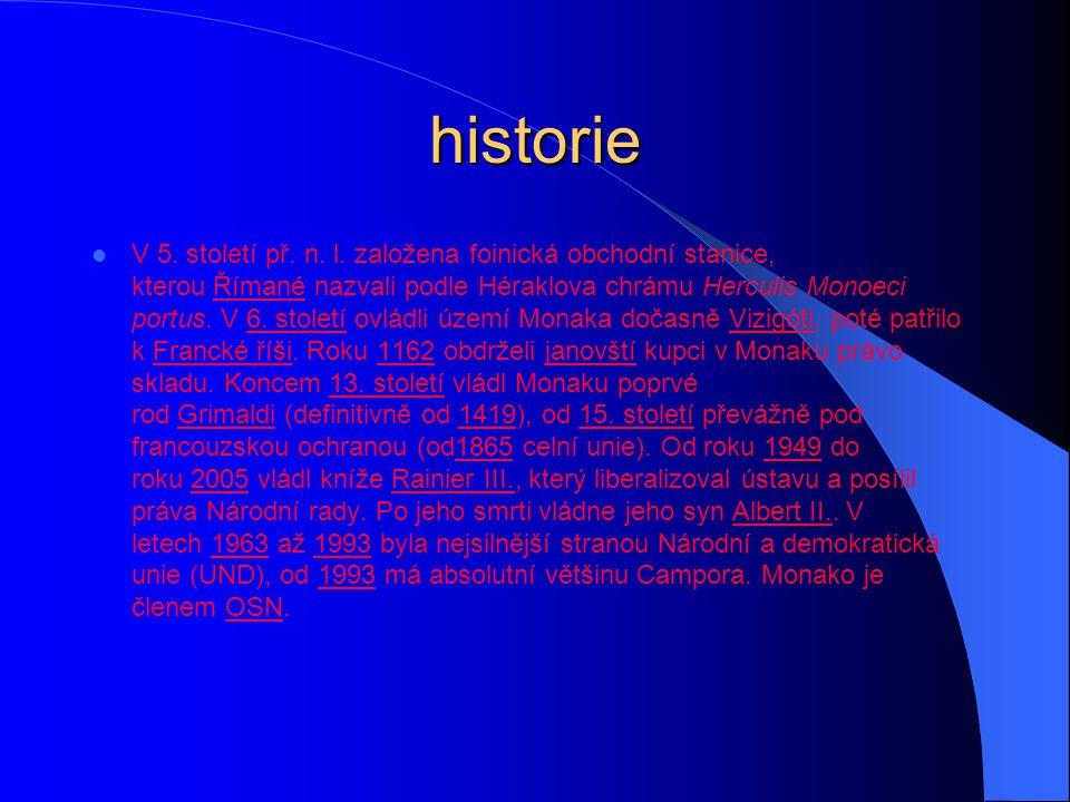historie V 5. století př. n. l. založena foinická obchodní stanice, kterou Římané nazvali podle Héraklova chrámu Herculis Monoeci portus. V 6. století