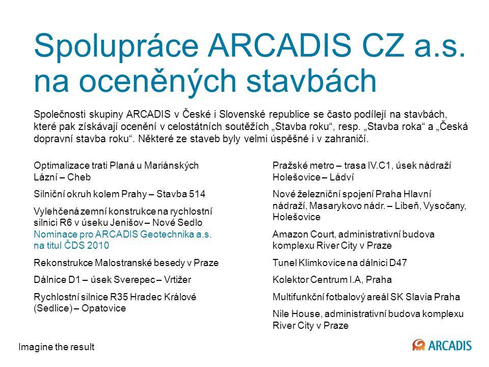 Imagine the result Spolupráce ARCADIS CZ a.s.