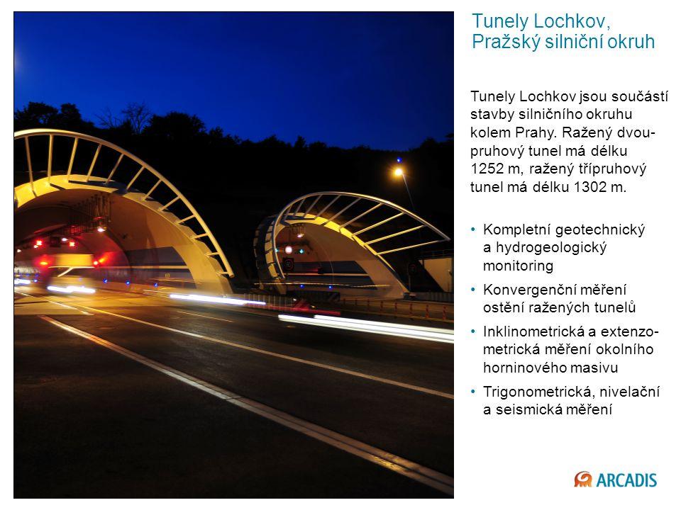 © 2013 ARCADIS 29 Tunely Lochkov, Pražský silniční okruh Kompletní geotechnický a hydrogeologický monitoring Konvergenční měření ostění ražených tunelů Inklinometrická a extenzo- metrická měření okolního horninového masivu Trigonometrická, nivelační a seismická měření Tunely Lochkov jsou součástí stavby silničního okruhu kolem Prahy.