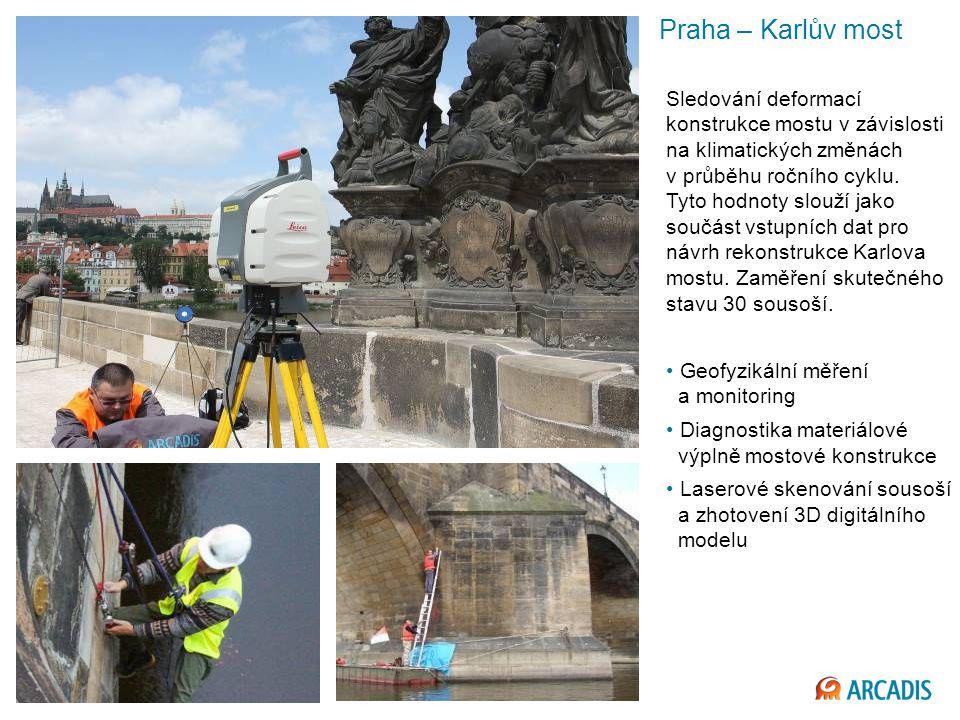 Imagine the result Praha – Karlův most Sledování deformací konstrukce mostu v závislosti na klimatických změnách v průběhu ročního cyklu.