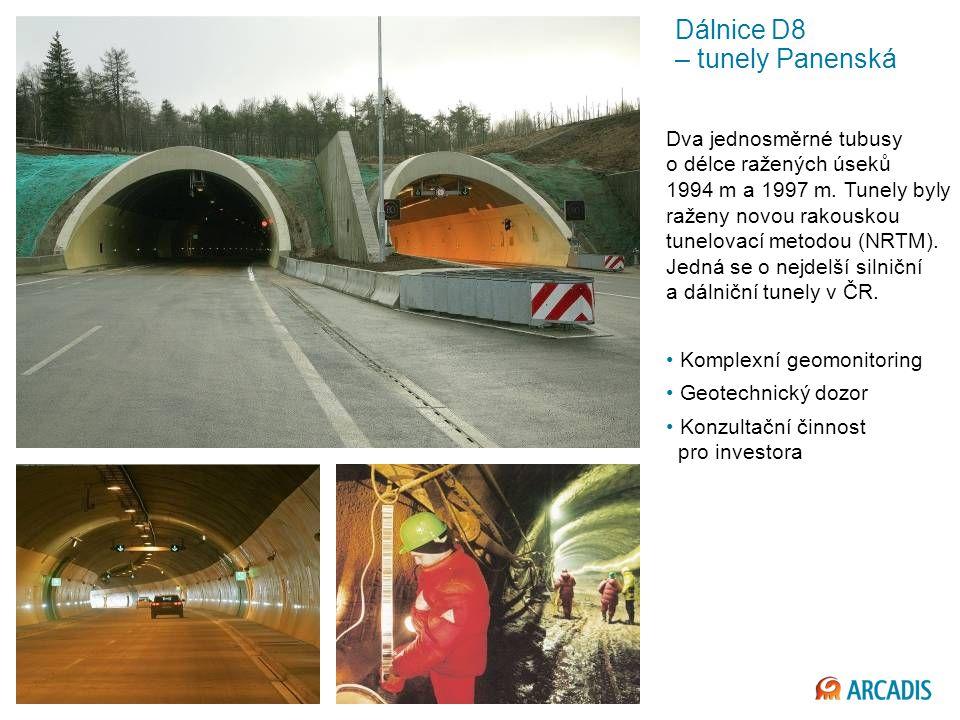 Imagine the result Dálnice D8 – tunely Panenská Dva jednosměrné tubusy o délce ražených úseků 1994 m a 1997 m.