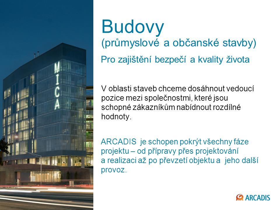 9 © 2013 ARCADIS Budovy (průmyslové a občanské stavby) V oblasti staveb chceme dosáhnout vedoucí pozice mezi společnostmi, které jsou schopné zákazníkům nabídnout rozdílné hodnoty.