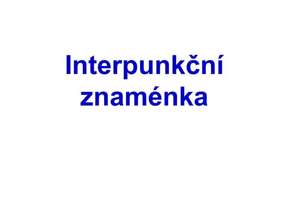 Interpunkční znaménka