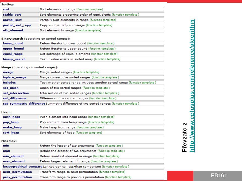 PB161 Výjimky pro I/O operátory STL algs, Výjimky, Functor 3.11.2014 50 #include int main() { std::cin.exceptions( std::istream::failbit); try { int i; std::cin >> i; std::cout << Succesfully read: << i << std::endl; } catch (std::istream::failure & ex) { std::cout << Exception: << e.what() << std::endl; } return 0; } int x; cin >> x; if (cin.fail()) { }