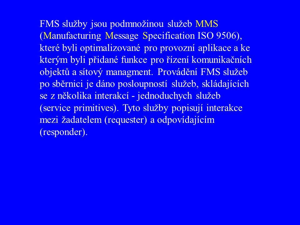 FMS služby jsou podmnožinou služeb MMS (Manufacturing Message Specification ISO 9506), které byli optimalizované pro provozní aplikace a ke kterým byli přidané funkce pro řízení komunikačních objektů a sítový managment.