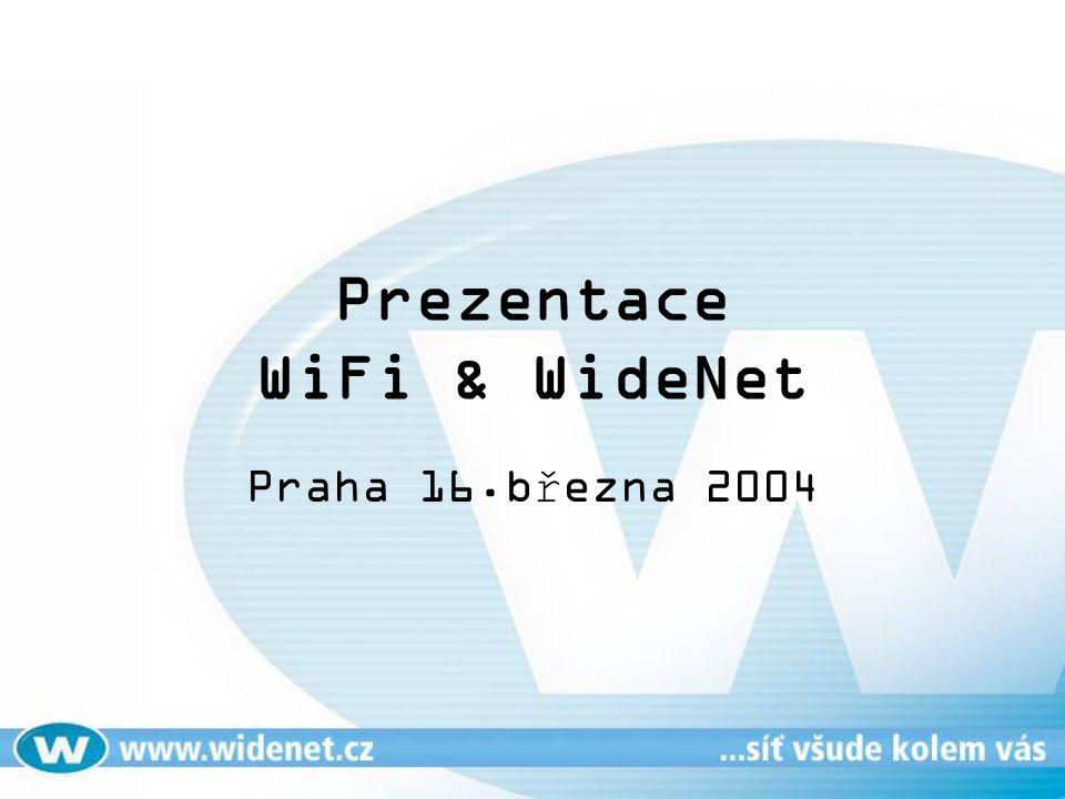 Praktická ukázka WiFi roamingu Presentuje: Pavel Uhliar Technický ředitel WideNet s.r.o.