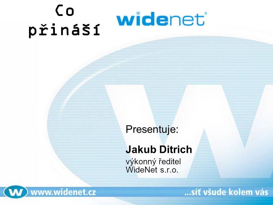 Co přináší Presentuje: Jakub Ditrich výkonný ředitel WideNet s.r.o.