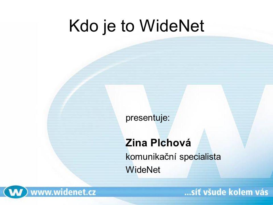 Kdo je to WideNet presentuje: Zina Plchová komunikační specialista WideNet