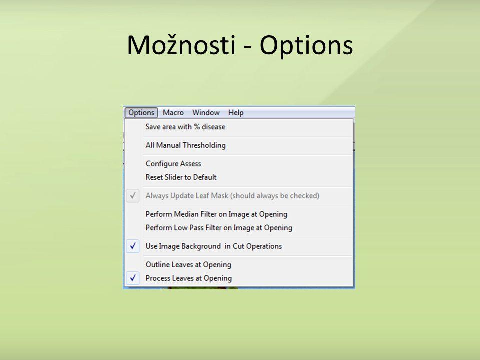 Možnosti - Options