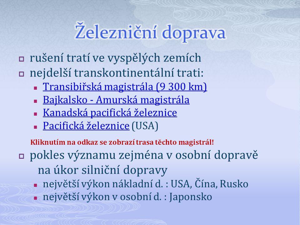 Obr. 2 Transibiřská magistrála –červená, Bajkalsko-Amurská magistrála - zelená 