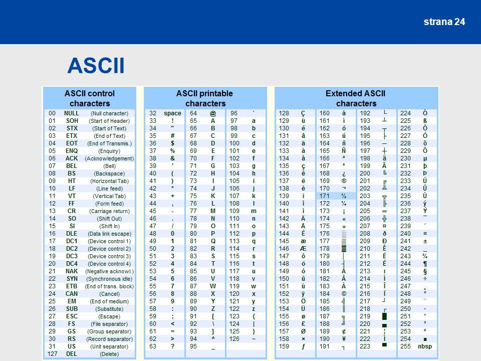 strana 24 ASCII