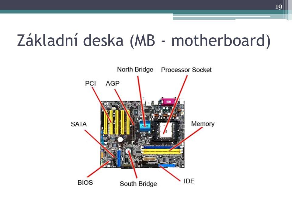 Základní deska (MB - motherboard) 19
