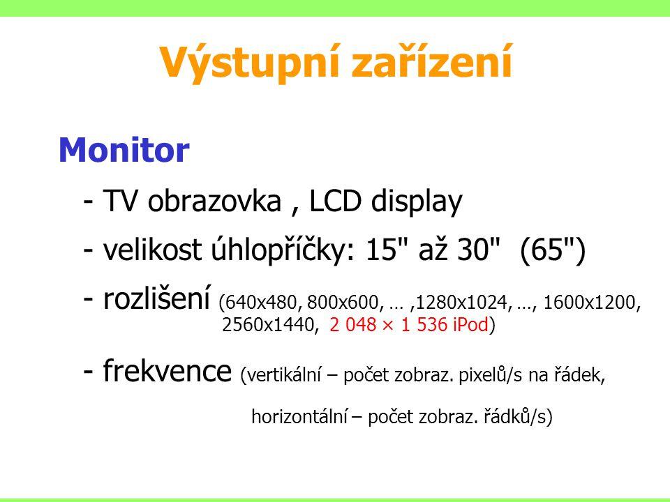 Monitor - TV obrazovka, LCD display - velikost úhlopříčky: 15