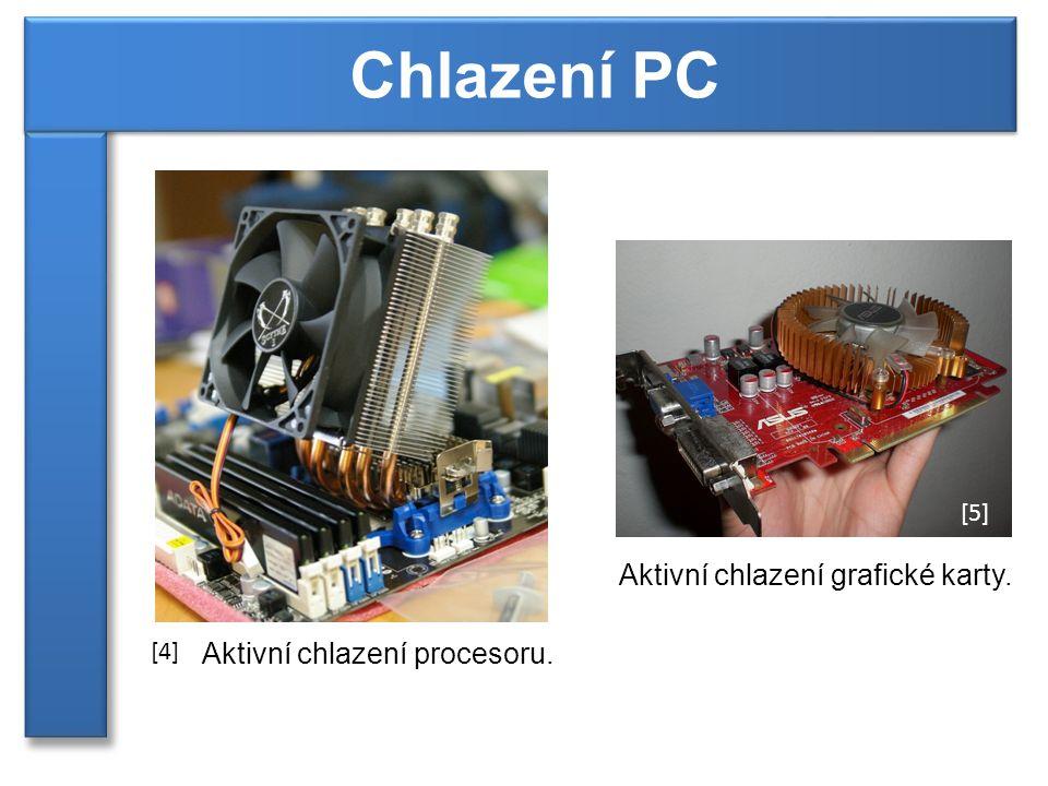Aktivní chlazení procesoru. Aktivní chlazení grafické karty. [4] [5]