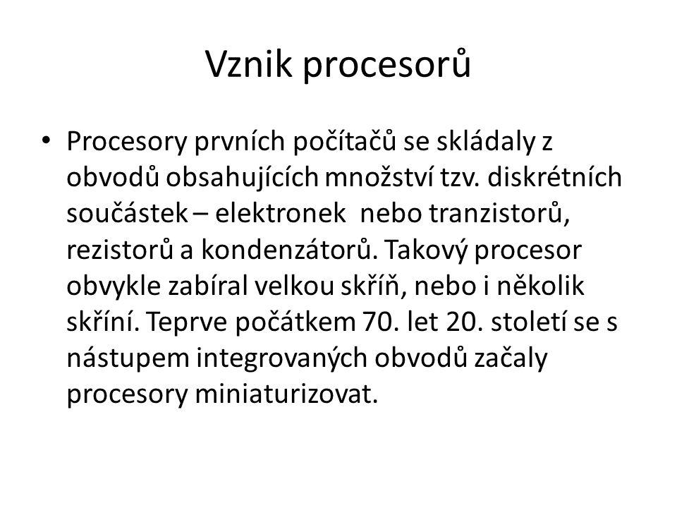 RISC procesory s redukovanou instrukční sadou.Obsahují jen několik základních instrukcí.