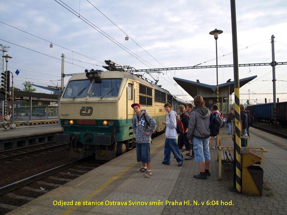 Odjezd ze stanice Ostrava Svinov směr Praha Hl. N. v 6:04 hod.