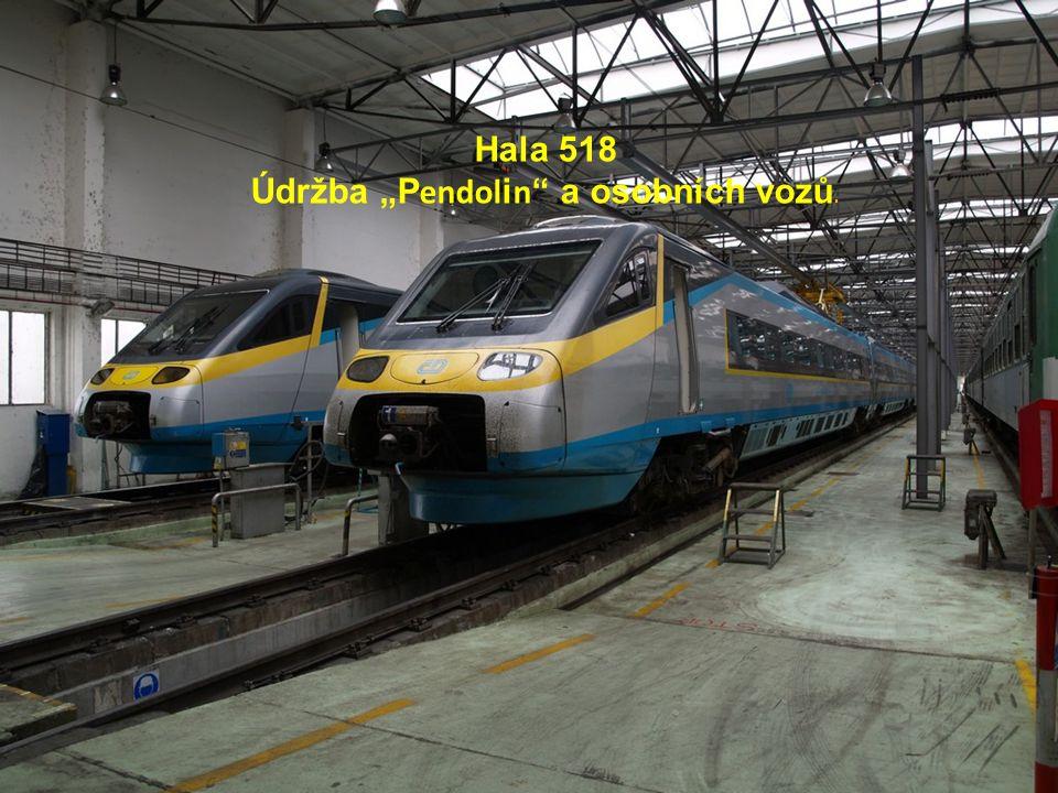 """Hala 518 Údržba """"P endol i n a osobních vozů."""