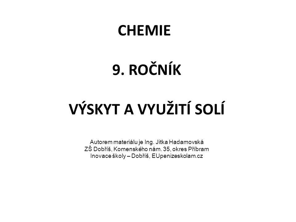 Zdroj: KARGER, I.; PEČOVÁ, D.; PEČ, P.; Chemie I pro 8.