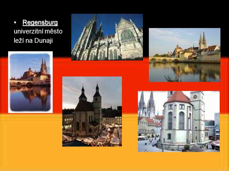 RegensburgRegensburg univerzitní město leží na Dunaji