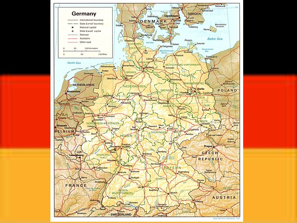 Základní údaje Hlavní město: Berlín Rozloha: 356 733 km 2 Počet obyvatel (2006) : 82 422 299 Státní zřízení: republika Hlava státu: Horst Koehler Správní členění: 16 spolkových zemí Měna: euro Úřední jazyk: němčina