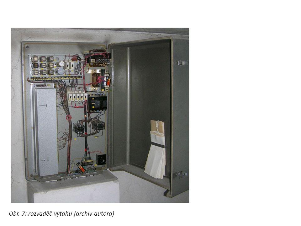 rozvaděč výtahu Obr. 7: rozvaděč výtahu (archiv autora)
