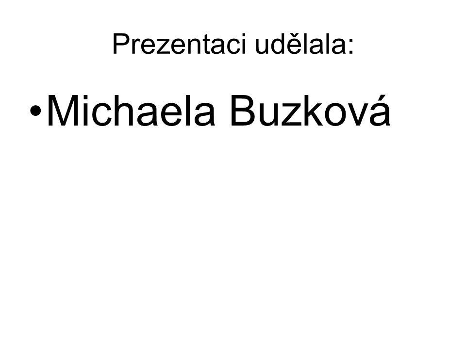 Prezentaci udělala: Michaela Buzková