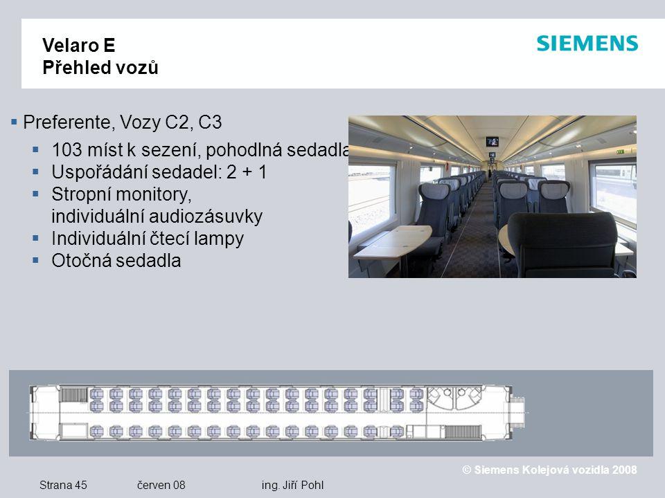 © Siemens Kolejová vozidla 2008 Strana 45 červen 08 ing.
