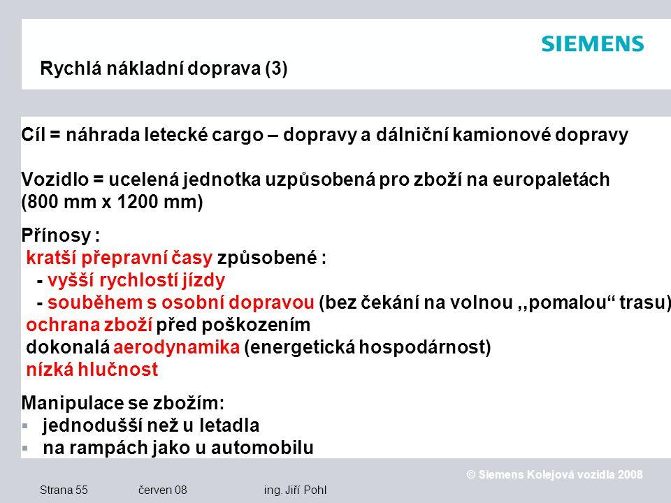 © Siemens Kolejová vozidla 2008 Strana 55 červen 08 ing.