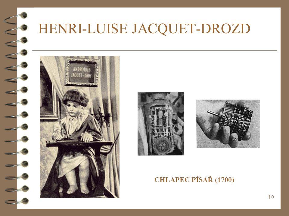 10 HENRI-LUISE JACQUET-DROZD CHLAPEC PÍSAŘ (1700)