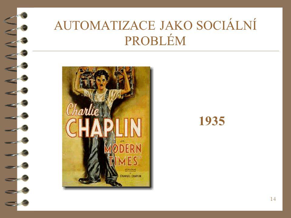 14 AUTOMATIZACE JAKO SOCIÁLNÍ PROBLÉM 1935